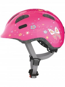 Kask rowerowy ABUS Smiley 2.0 Pink Butterfly (S)